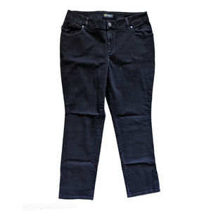 Lee Relaxed Fit Straight Leg Mid Rise Jeans Black